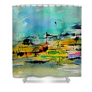 Watercolor 514020 Shower Curtain