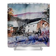 Watercolor 902080 Shower Curtain
