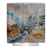 Watercolor  902102 Shower Curtain