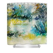 Watercolor  906020 Shower Curtain