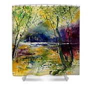 Watercolor  908010 Shower Curtain