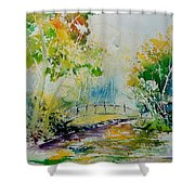 Watercolor  908020 Shower Curtain