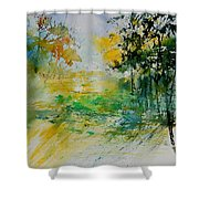 Watercolor  908051 Shower Curtain