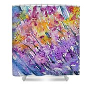 Watercolor - Abstract Flower Garden Shower Curtain
