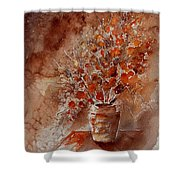Watercolor Autumn Bunch Shower Curtain