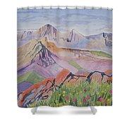 Watercolor - Blanca And Ellingwood Landscape Shower Curtain
