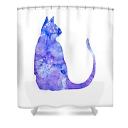Watercolor Cat Shower Curtain