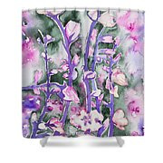 Watercolor - Cherry Blossoms Shower Curtain
