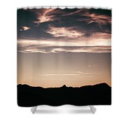 Watercolor Clouds. Shower Curtain