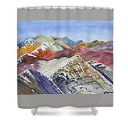 Watercolor - Colorado Elk Range View Shower Curtain