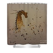 Watercolor Dragon Shower Curtain