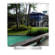 Watercolor Florida Shower Curtain