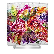 Watercolor Garden IIi Shower Curtain