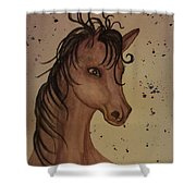 Watercolor Horse Shower Curtain