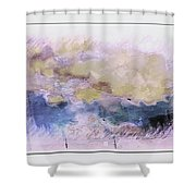 Watercolor Landscape Shower Curtain