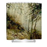 Watercolor Misty Atmosphere  Shower Curtain