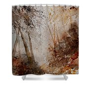 Watercolor Misty Path Shower Curtain