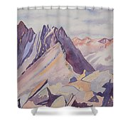 Watercolor - Near The Top Of Mount Sneffels Shower Curtain
