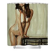 Watercolor Nude 1 Shower Curtain