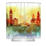 watercolor of Venice Shower Curtain