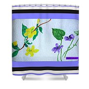 Watercolor Of Wild Flowers Shower Curtain