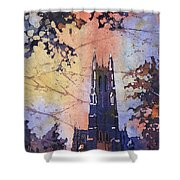 Watercolor Painting Of Duke Chapel On The Duke University Campus Shower Curtain
