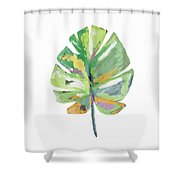 Watercolor Palm Leaf- Art By Linda Woods Shower Curtain by Linda Woods