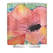 Watercolor Poppy Shower Curtain