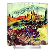 Watercolor  Provence 07 Shower Curtain