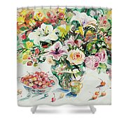 Watercolor Series 1 Shower Curtain