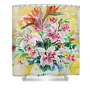 Watercolor Series 141 Shower Curtain