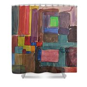 Watercolor Shapes Shower Curtain