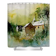 Watercolor Sosoye Shower Curtain