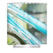 Watercolor Wheels Shower Curtain