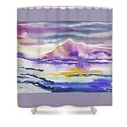 Watercolor - Winter Arctic Impression Shower Curtain