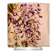 Watercolor Wisteria Shower Curtain