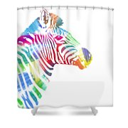 Watercolor Zebra Shower Curtain