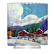 Watercolor_3483 Shower Curtain