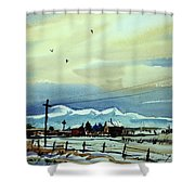 Watercolor_3487 Shower Curtain
