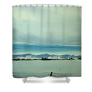 Watercolor_3493 Shower Curtain