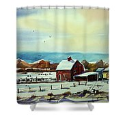 Watercolor_3501 Shower Curtain