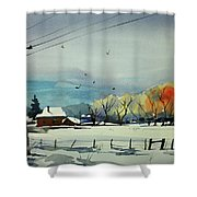 Watercolor_3508 Shower Curtain