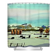 Watercolor_3514 Shower Curtain