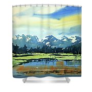 Watercolor3620 Shower Curtain