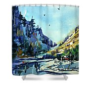 Watercolor3810 Shower Curtain