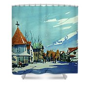 Watercolor3839 Shower Curtain