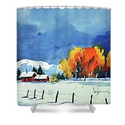 Watercolor3860 Shower Curtain