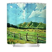 Watercolor4504 Shower Curtain