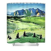 Watercolor4509 Shower Curtain