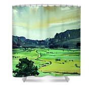 Watercolor4612 Shower Curtain